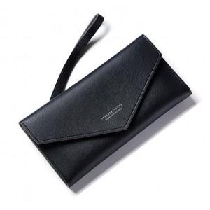 Dámska elegantná mäkká peňaženka čierna