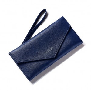 Dámska tmavomodrá elegantná peňaženka mäkká