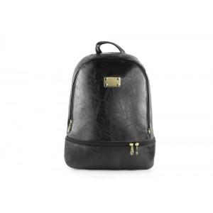 Čierny dámsky ruksak so zipsom