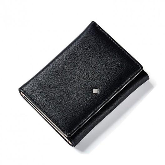 Malá čierna dámska peňaženka na karty a bankovky