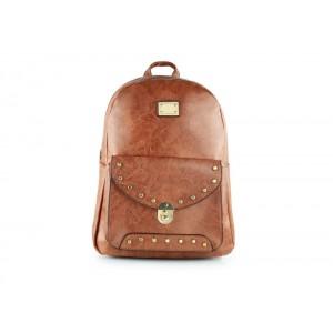 Hnedý dámsky ruksak do mesta