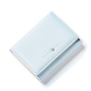 Svetlomodrá dámska malá peňaženka dolárovka