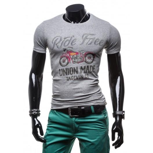Štýlové pánske tričká na každý deň sivej farby