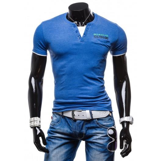 Originálne pánske tričká modrej farby