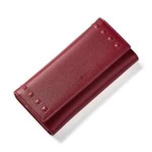 Bordová dámska veľká peňaženka z ekokože