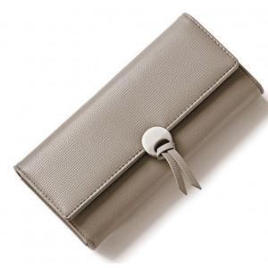 Dámska peňaženka dámska sivej farby s ozdobnou prackou