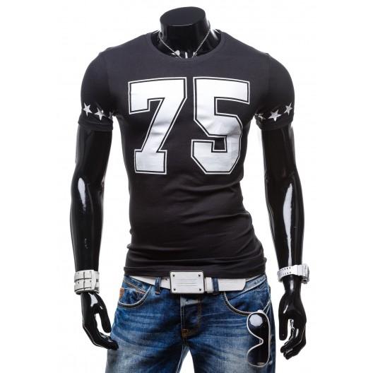 zaujímavé pánske tričká čiernej farby s číslom