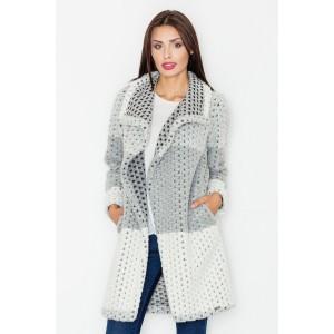 Sivý pletený kabát pre dámy