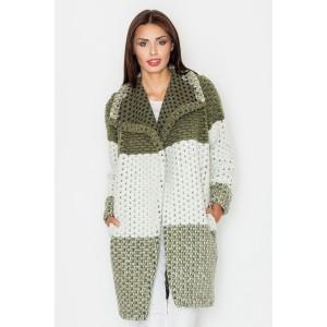 Dámsky olivovo zelený jarný kabát