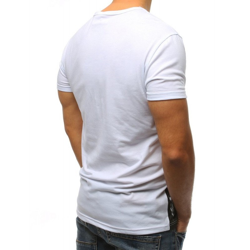 30bd2bb5fb7f Moderné pánske tričko bielej farby s krátkym rukávom a trendy nápisom
