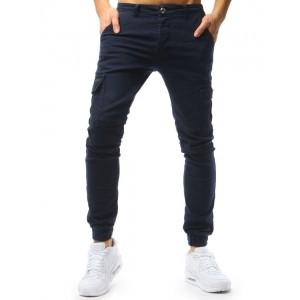 Štýlové pánske riflové nohavice modrej farby
