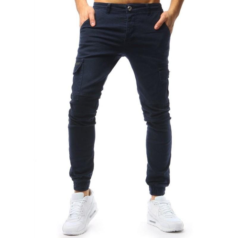 265a801d9 Štýlové pánske riflové nohavice modrej farby