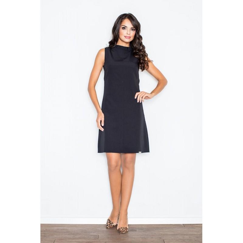 7d4947659 Elegantné dámske čierne šaty bez rukávov nad kolená