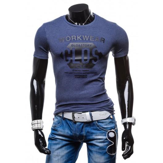 Elegantné pánske tričko modrej farby