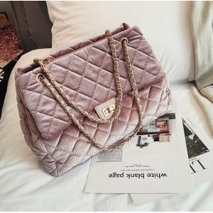 Dámska ružová menčestrová kabelka na rameno