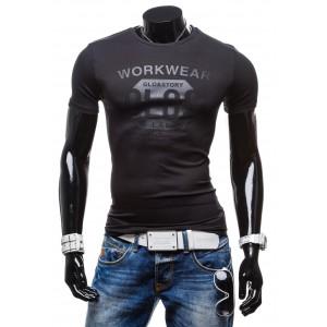 Štýlové pánske tričká na každý deň čiernej farby