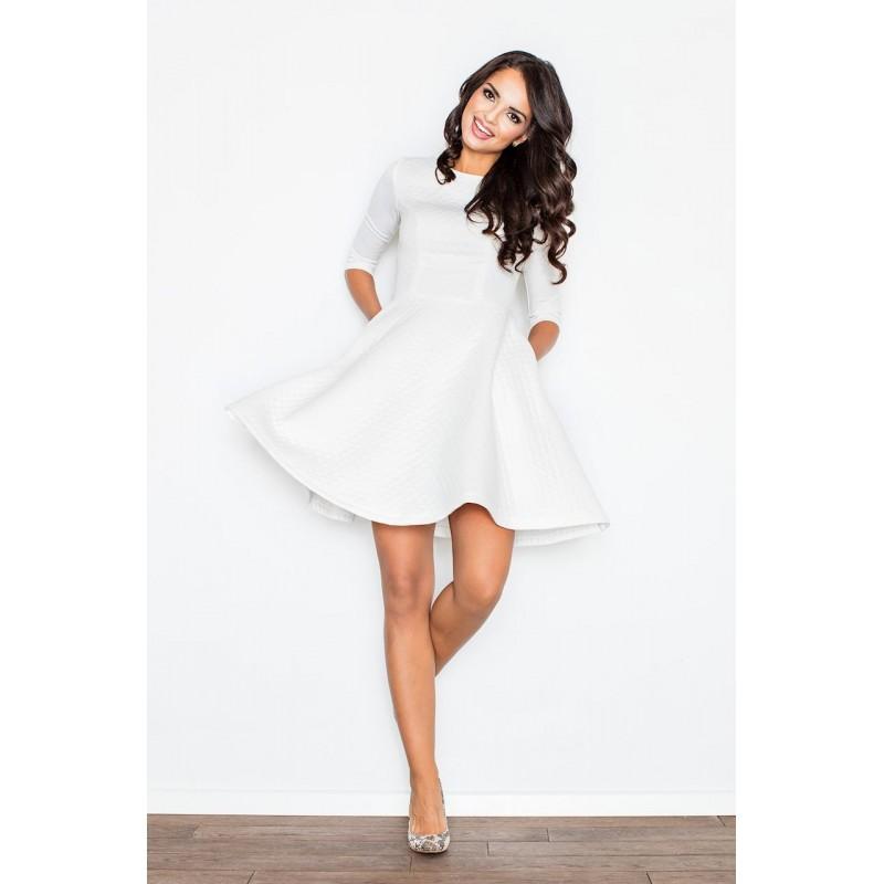 Elegantné dámske krátke šaty bielej farby 4aaafcb8bb9