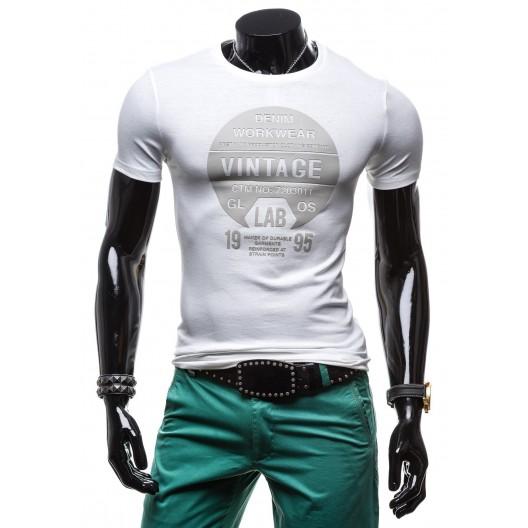 Značkové pánske tričká bielej farby