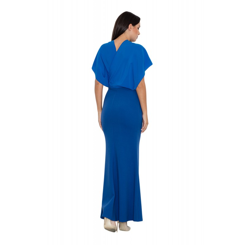 7fdb97e48acb Dlhé dámske spoločenské šaty modrej farby