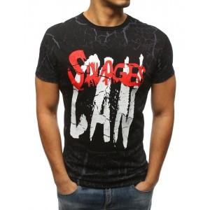 Ideálne pánske tričko čiernej farby s nápisom