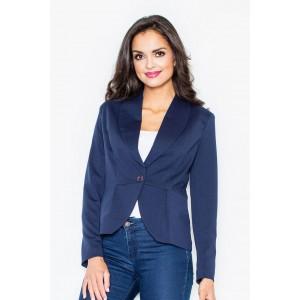 Tmavomodré dámske elegantné sako