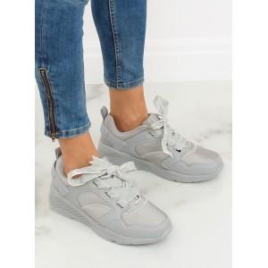 Štýlové dámske tenisky na platforme sivé