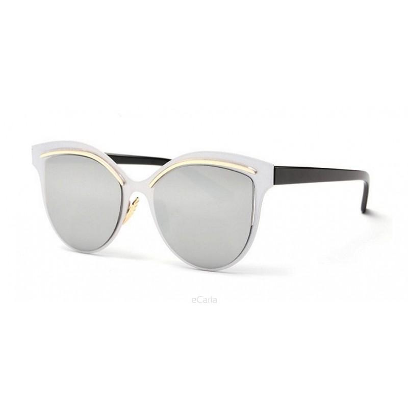 Moderné dámske slnečné okuliare v striebornej farbe 4f87c0fa8e8