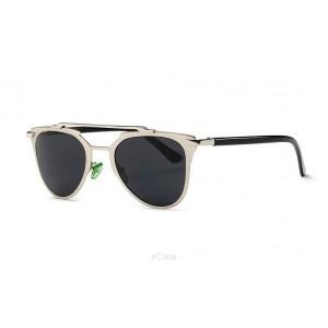 Lacné dámske slnečné okuliare v strieborno čiernej farbe 6b1ecfc5bff