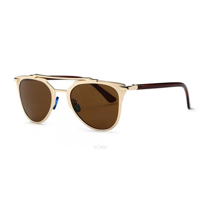 3a1458dfe Dámske značkové slnečné okuliare v hnedej farbe