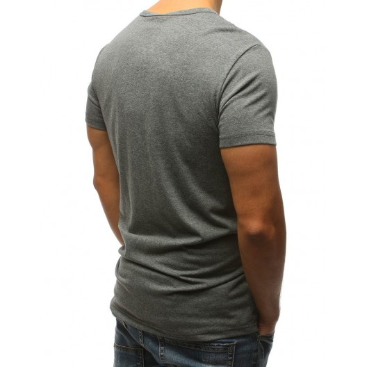 Sivé pánske tričko pre mužov s krátkym rukávom na voľný deň