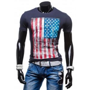 Originálne pánske tričká s vlajkou USA 100% bavlna