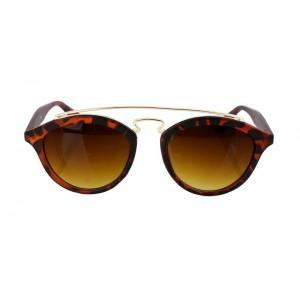 Hnedé dámske slnečné okuliare s leopardím motívom