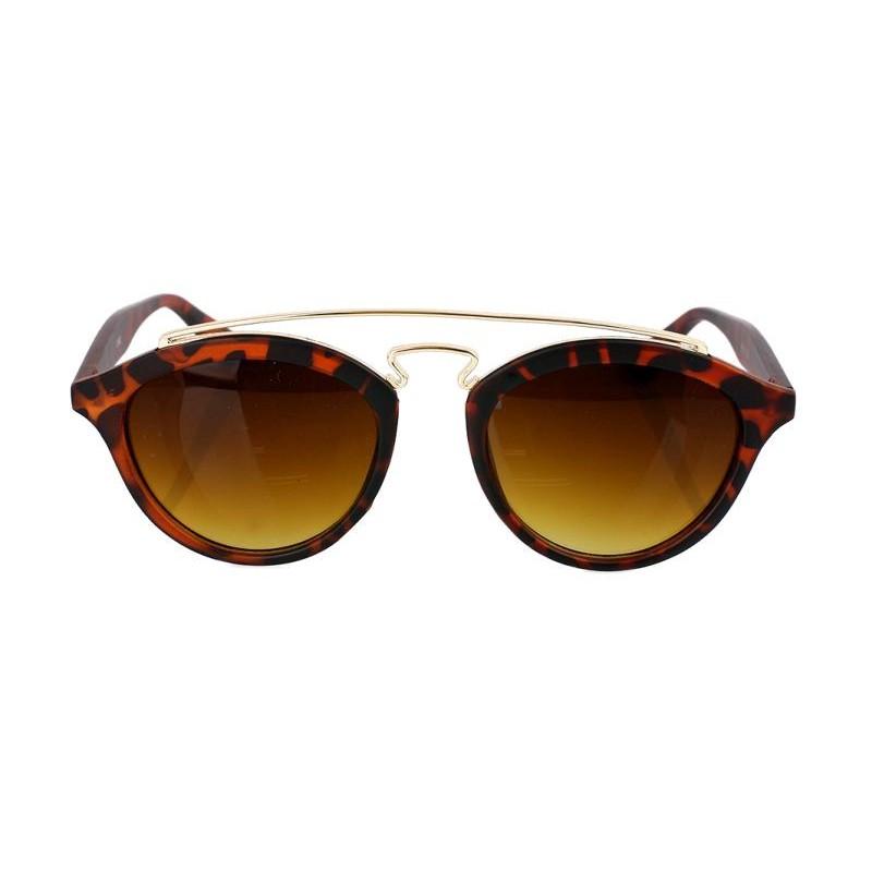 8203a601dd8e Hnedé dámske slnečné okuliare s leopardím motívom
