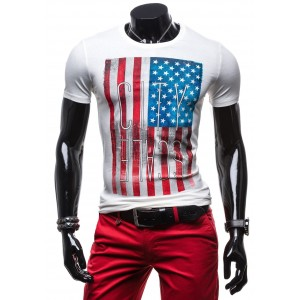 Športové pánske tričká s vlajkou USA 100% bavlna