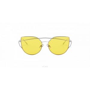 Priesvitné žlté dámske slnečné okuliare
