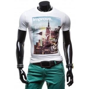 Moderné pánske trička s potlačeným obrázkom manhattanu