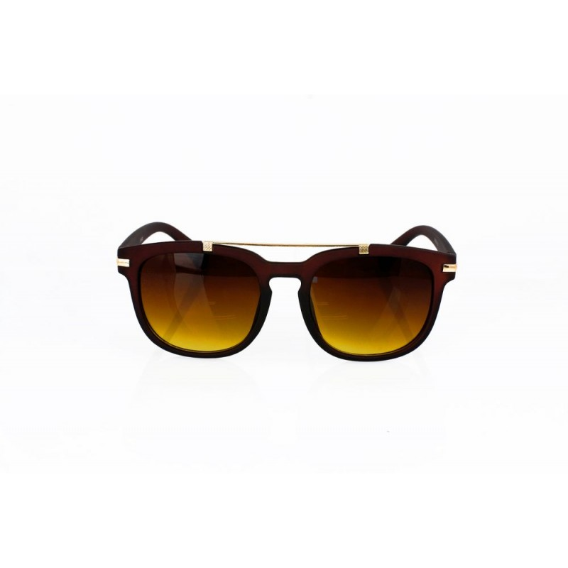 Kvalitné hnedé slnečné okuliare s elegantným detailom 75b6418471d
