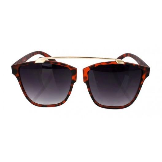 Leopardie slnečné okuliare s kovovým doplnkom