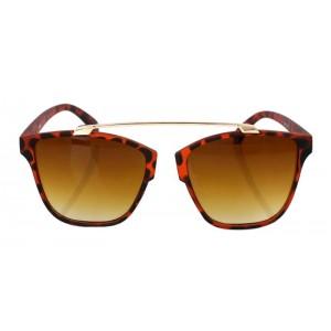 Dizajnérske slnečné okuliare s kovovým stredom vo vzore leoparda