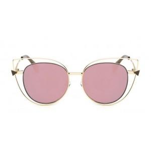 Ružové okuliare s dizajnovým kovovým orámovaním