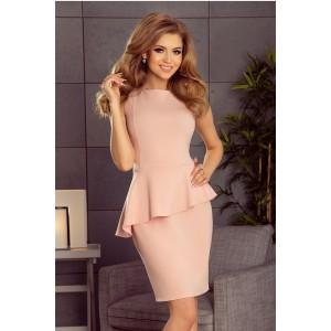 Elegantné spoločenské šaty v pastelovo ružovej farbe