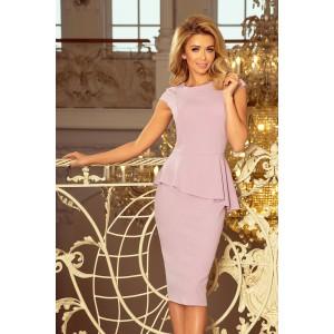 Spoločenské šaty krátke svetlo ružovej farby