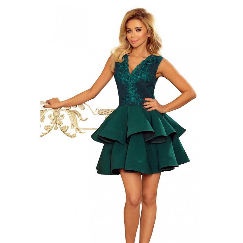 Exkluzívne spoločenské šaty s výstrihom a čipkou 30cdf495d2e