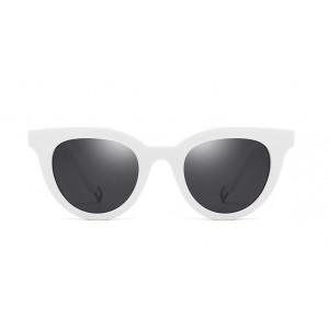Biele štýlové okuliare slnečné