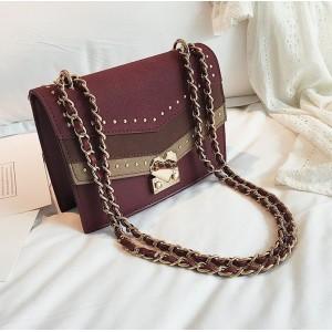 Červená BOHO dámska kabelka cez rameno