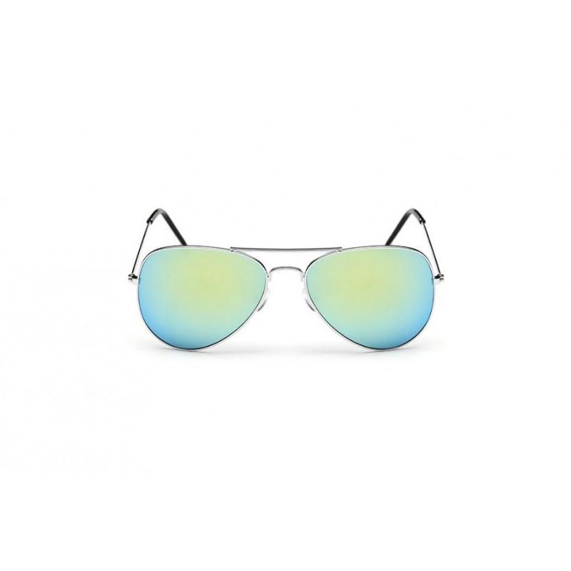 Mentolové slnečné okuliare pilotky so zlatým rámom ea9d29dc589