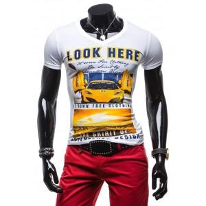 Moderné pánske tričká 100% bavlna bielej farby