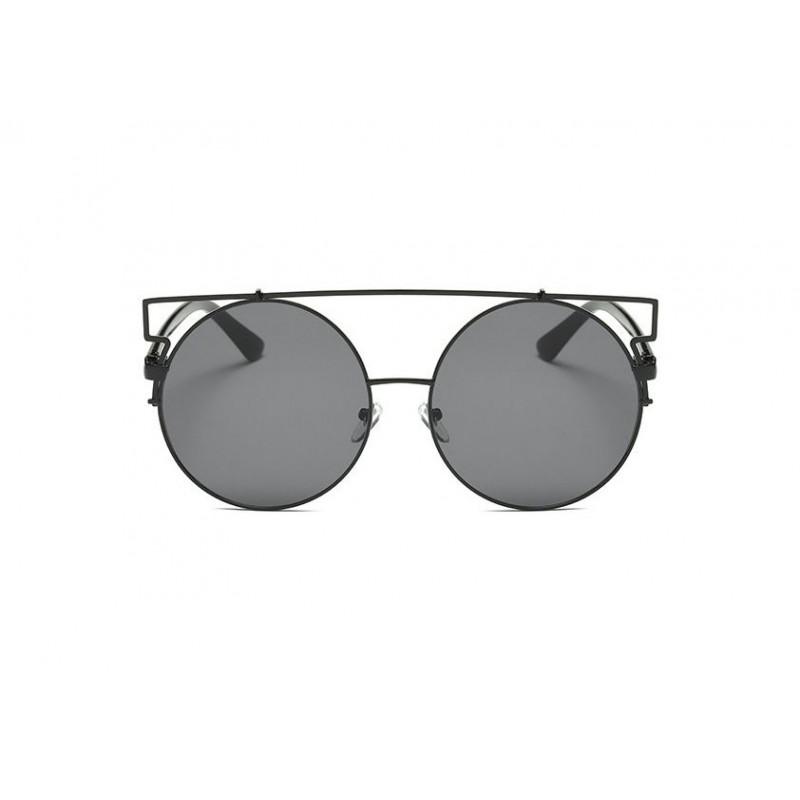 Štýlové dámske čierne slnečné okuliare okrúhle 9c9f3a1d58d