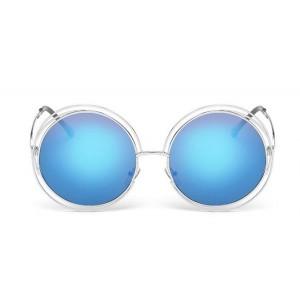Modré moderné okuliare s dvojitým rámom