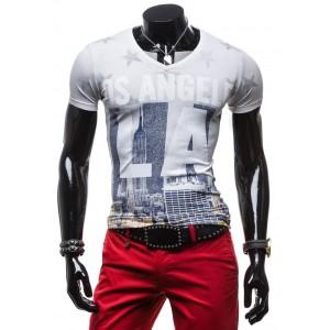 Štýlové pánske tričká s motívom Los Angeles